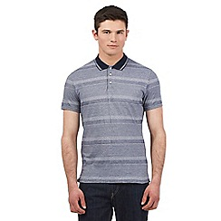 BEN SHERMAN - Navy mixed stripe polo shirt