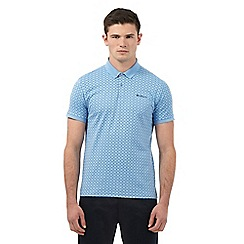 Ben Sherman - Big and tall light blue all-over diamond print polo shirt