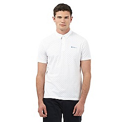 Ben Sherman - White dotted print polo shirt