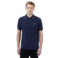 Fred Perry - Navy twin tipped slim fit polo shirt