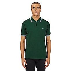 Fred Perry - Green twin tipped regular fit polo shirt