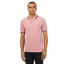 Fred Perry - Big and tall red twin tipped slim fit polo shirt