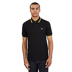 Fred Perry - Black twin tipped slim fit polo shirt