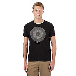Ben Sherman - Big and tall navy monochrome pixel target t-shirt