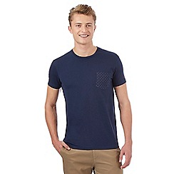 Ben Sherman - Big and tall navy spotted pocket t-shirt