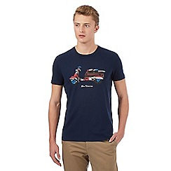 Ben Sherman - Big and tall navy scooter t-shirt