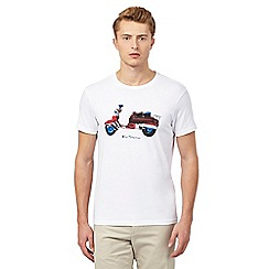 Ben Sherman - White scooter graphic t-shirt