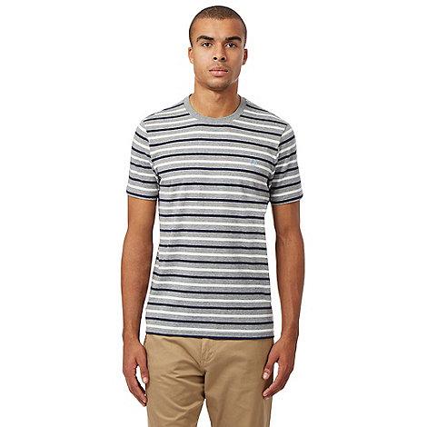 Fred Perry Grey Striped Logo T Shirt Debenhams