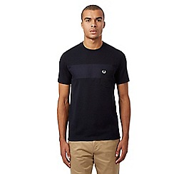Fred Perry - Navy textured t-shirt
