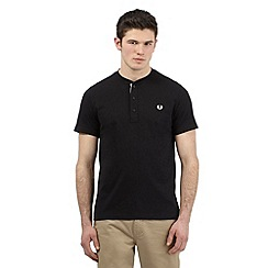 Fred Perry - Black granddad t-shirt
