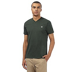 Fred Perry - Green V neck slim fit t-shirt