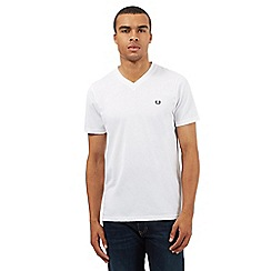 Fred Perry - White V neck t-shirt