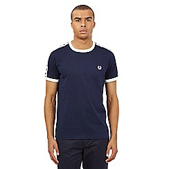 Fred Perry - Light blue slim fit track t-shirt