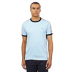 Fred Perry - Big and tall light blue slim fit track t-shirt