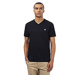 Fred Perry - Navy V neck slim fit t-shirt