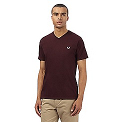 Fred Perry - Maroon V neck slim fit t-shirt