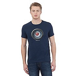 Ben Sherman - Big and tall navy target crew neck t-shirt