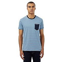 Ben Sherman - Big and tall blue striped print pocket t-shirt
