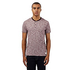 Ben Sherman - Red marl effect granddad t-shirt