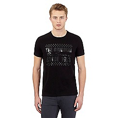 BEN SHERMAN - Big and tall black logo print crew neck t-shirt