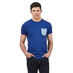 BEN SHERMAN - Big and tall blue contrast pocket t-shirt
