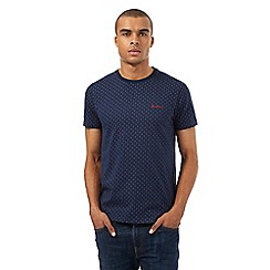 Ben Sherman - Navy triple dot print t-shirt