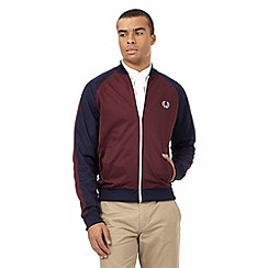 Fred Perry - Dark red contrast sleeves logo jacket