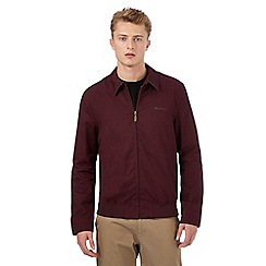 BEN SHERMAN - Big and tall dark red harrington jacket