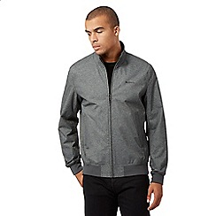 BEN SHERMAN - Big and tall grey funnel neck jacket
