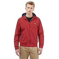 Fred Perry - Big and tall red hooded jacket