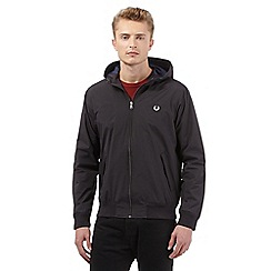 Fred Perry - Big and tall black hooded jacket