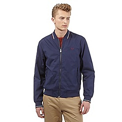 Fred Perry - Big and tall navy tipped bomber jacket