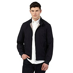 Ben Sherman - Big and tall navy funnel neck harrington jacket