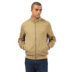 BEN SHERMAN - Big and tall beige funnel neck harrington jacket