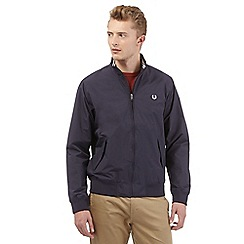 Fred Perry - Big and tall navy logo embroidered jacket