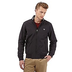 Fred Perry - Big and tall black logo embroidered jacket