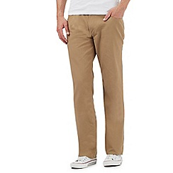 Ben Sherman - Tan cord straight fit trousers