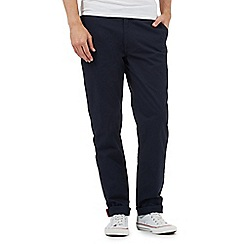 Ben Sherman - Navy straight fit chinos