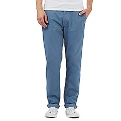 BEN SHERMAN - Blue straight fit chinos