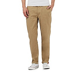 Ben Sherman - Tan straight fit chinos
