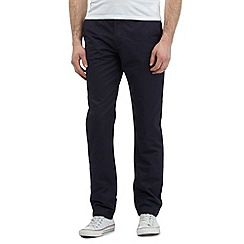Fred Perry - Big and tall navy twill chinos