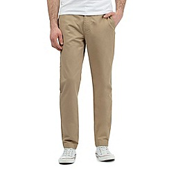 Fred Perry - Big and tall beige twill chinos