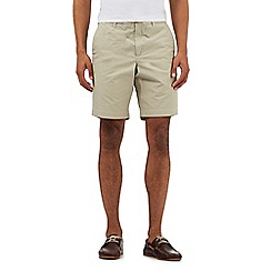 BEN SHERMAN - Beige textured stripe shorts