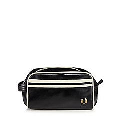 Fred Perry - Black striped travel wash bag