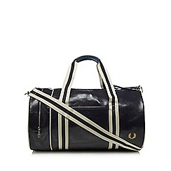 Fred Perry - Navy 'Classic' barrel bag