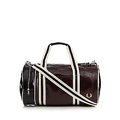 Fred Perry - Dark red logo barrel bag