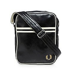 Fred Perry - Black logo cross body bag
