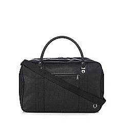 Fred Perry - Black scotch grain overnight bag