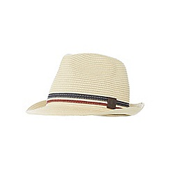 Fred Perry - Beige straw trilby hat