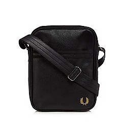 Fred Perry - Black scotch grain side bag